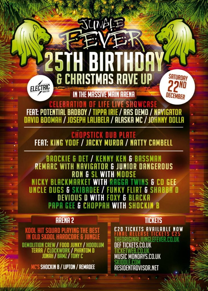 DJ Ron Jungle Fever 25th Birthday Xmas Party 22th December 2018